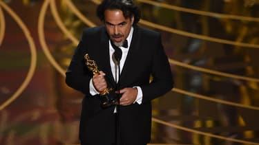 Le réalistateur Alejandro Gonzalez Inarritu lors des Oscars en février 2016