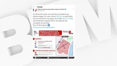 Une opération de déminage a lieu dimanche 7 mars à Lyon.