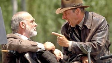 """Sean Connery et Harrison Ford dans """"Indiana Jones et la dernière croisade"""""""