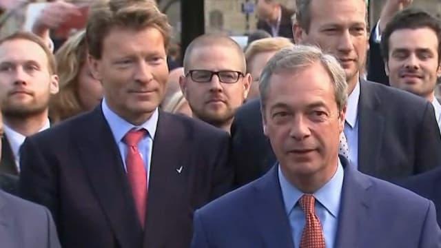 Nigel Farage, chef du parti anti-Europe et anti-immigration Ukip.