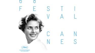 Ingrid Bergman, qui figure sur l'affiche de la 68e édition du Festival de Cannes avait présidé son jury en 1973. - Festival de Cannes.