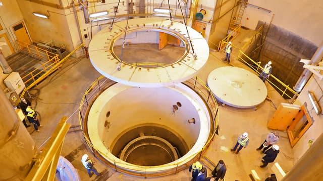 Lors d'une visite au centre nucléaire d'Arak (Iran), le 23 décembre 2019.
