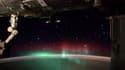 L'image d'aurore boréale postée par Reid Wiseman sur Twitter.