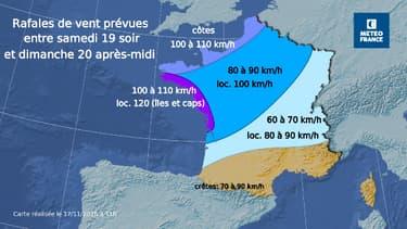 De fortes rafales de vent sont attendues ce week-end sur le nord-ouest du pays.