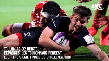 Toulon 19-32 Bristol : Dépassés, les Toulonnais perdent leur 3e finale de Challenge cup