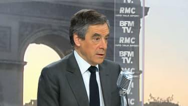 François Fillon était l'invité de BFMTV-RMC ce lundi 3 avril