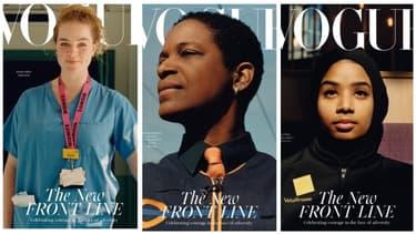 Les trois éditions du numéro de juillet 2020 du Vogue britannique