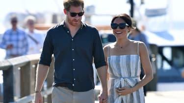 Le prince Harry et Meghan Markle en Australie le 22 octobre 2018