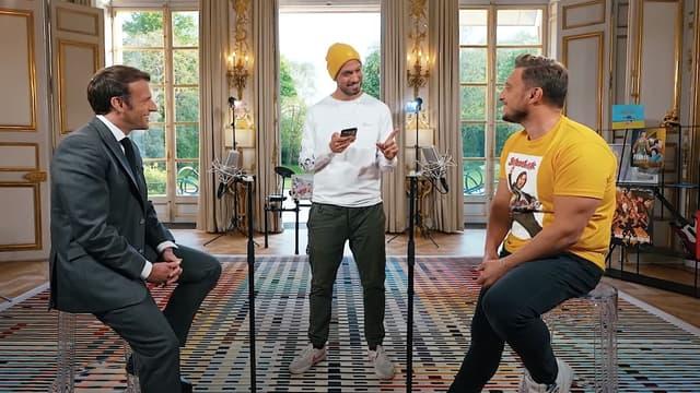 Cyril Hanouna pour une « première rencontre » … Emmanuel-Macron-McFly-et-Carlito-1032607