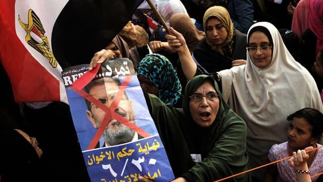 Des opposants au président Morsi, mardi 2 juillet, au Caire.