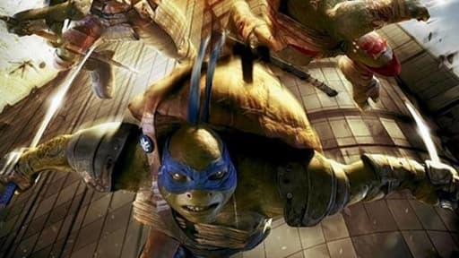 """L'affiche australienne des """"Tortues ninja"""" fait polémique."""