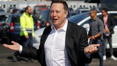 Elon Musk, le 3 septembre 2020 à Grünheide près de Berlin