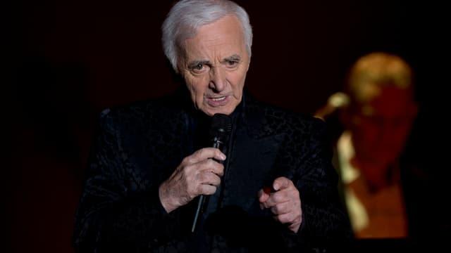 Charles Aznavour, lors d'un concert à Berlin, le 22 mai dernier.