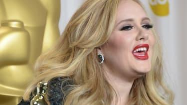 La chanteuse Adele, en février 2013.