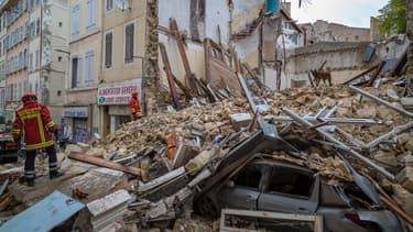 Les restes de l'immeuble de la rue d'Aubagne - Image d'illustration