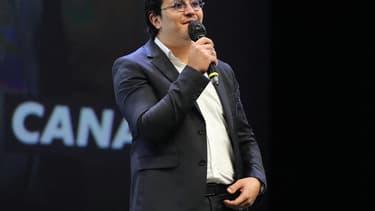 L'acteur Brahim Bouhlel au festival Canneseries le 14 octobre 2020