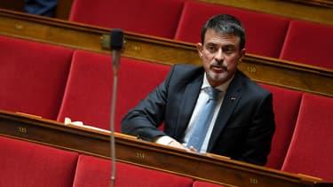Manuel Valls le 3 octobre 2017 à l'Assemblée nationale