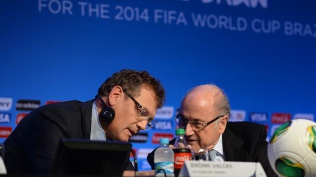 Jérôme Valcke et Sepp Blatter