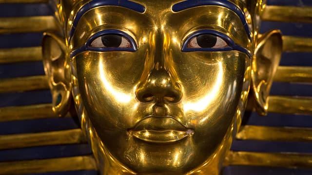 Une réplique du célèbre masque de Toutânkhamon, exposée à Berlin.