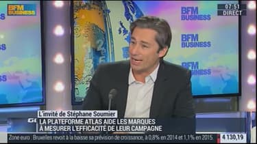 Laurent Solly, directeur général de Facebook en France fait la promotion de ses solutions de publicités auprès des PME.