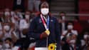Clarisse Agbégnénou et sa médaille d'or
