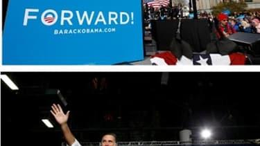 Le président américain Barack Obama et son rival républicain Mitt Romney, que les derniers sondages donnent à égalité, ont mis dimanche la dernière main à la pâte à 48 heures d'un scrutin dont l'issue reste plus ouverte que jamais, tentant de rassembler l