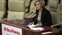 Valérie Pécresse, présidente de la région Ile-de-France, lors de son premier discours le 18 décembre 2015.
