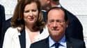 François Hollande, accompagné de sa compagne Valérie Trierweiler, à leur arrivée sur le sol américain. Le président français bénéficie d'un capital de confiance positif, même si l'on ne peut pas parler d'état de grâce, avec 54% d'opinions positives contre