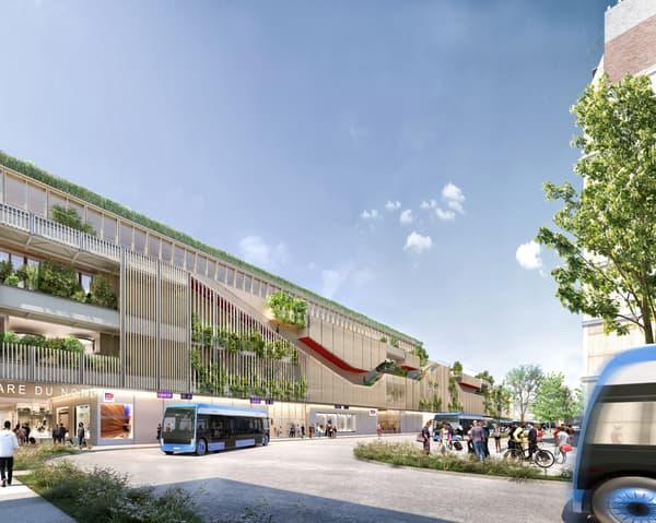 La future gare routière de la gare du Nord