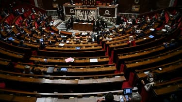 L'hémicyle de l'Assemblée nationale à Paris, le 6 octobre 2020