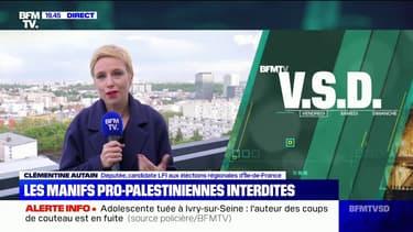 """Manifestation pro-palestinienne interdite: pour Clémentine Autain, """"c'est une décision inacceptable et injustifiable"""""""