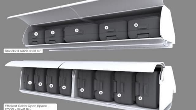 Les nouveaux coffres à bagages d'Air France