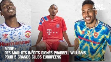 Man United, Juve, Real, Arsenal, Bayern : Des maillots inédits signés Pharrell Williams