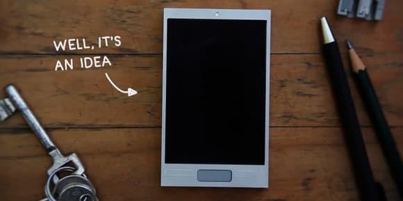 Ce téléphone, aussi séduisant qu'il puisse être, n'est qu'un projet.