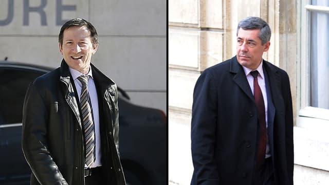 Le juge Gentil et le député Guaino.