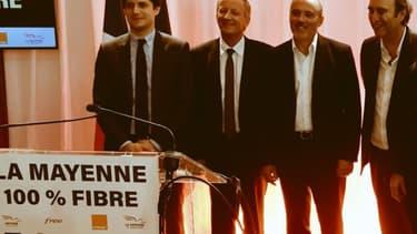 """""""Pour la 1ère fois en France dans le cadre d'un RIP fibre, les clients auront dès le départ le choix entre au moins 2 opérateurs"""" explique Stéphane Richard, PDG d'Orange."""