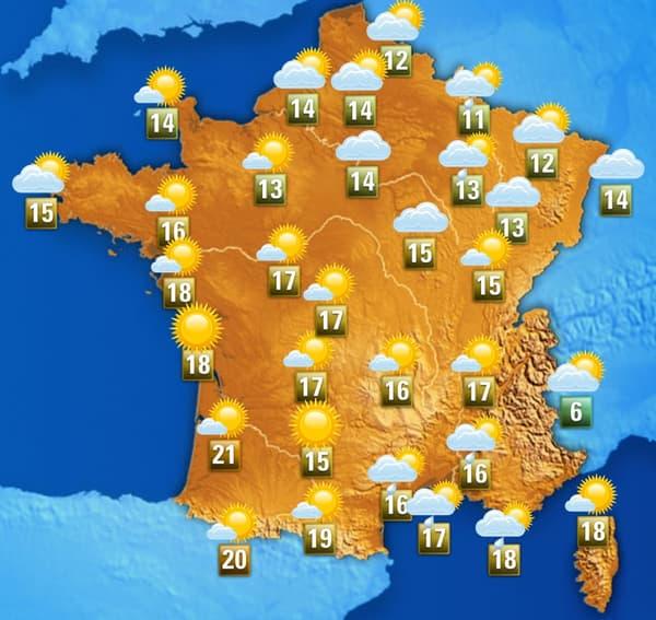 La météo de ce jeudi après-midi