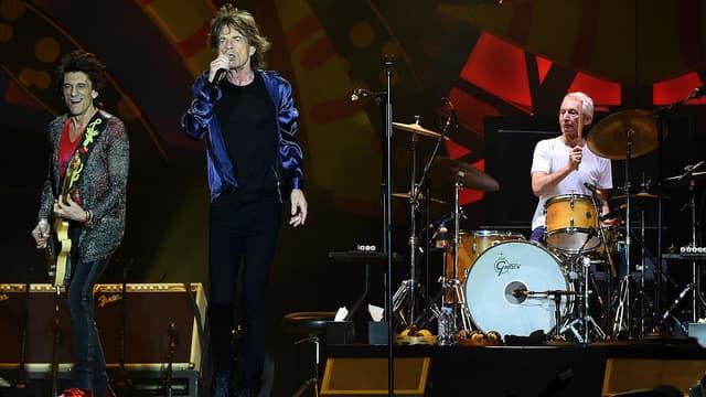 Les Rolling Stones lors de leur concert en Uruguay en février 2016