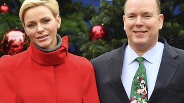 Charlene et le prince Albert de Monaco.