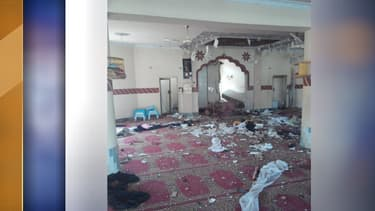 La mosquée après l'explosion