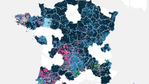 La répartitrion des votes en France lors des élections européennes