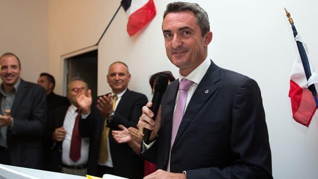 Stéphane Ravier lors de son élection comme sénateur en 2014
