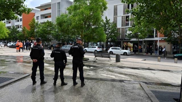 Police déployée dans le quartier des Grésilles à Dijon le 16 juin 2020