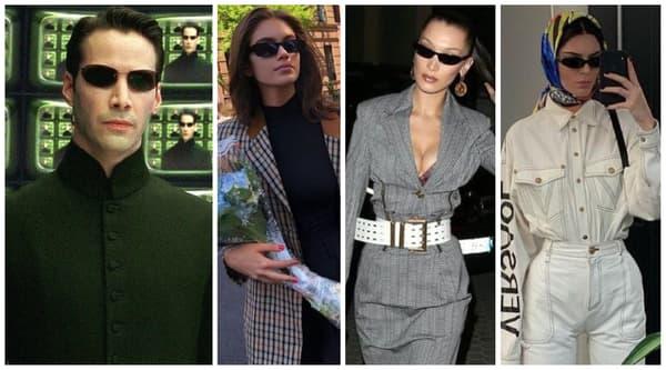 Neo dans Matrix - Kaia Gerber, Bella Hadid, Kendall Jenner