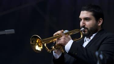 Ibrahim Maalouf en juin 2015 à la Fête de la musique à Paris. - Kenzo Tribouillard - AFP