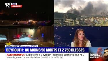 Liban: 50 morts et 2750 blessés dans les explosions du port, selon un nouveau bilan