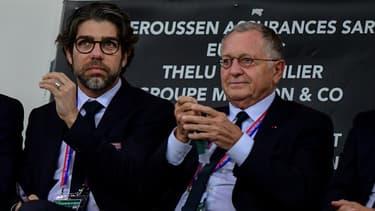 Juninho et Jean-Michel Aulas (OL)