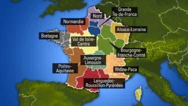 La carte possible des régions de France réeunies.
