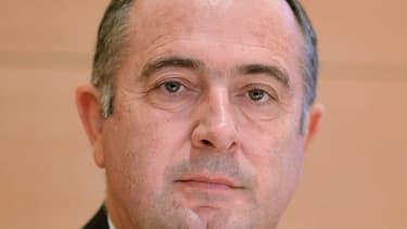 Didier Guillaume le 7 novembre 2012 lors d'une réunion sur la ligne TGV Lyon-Turin, au Sénat à Paris.