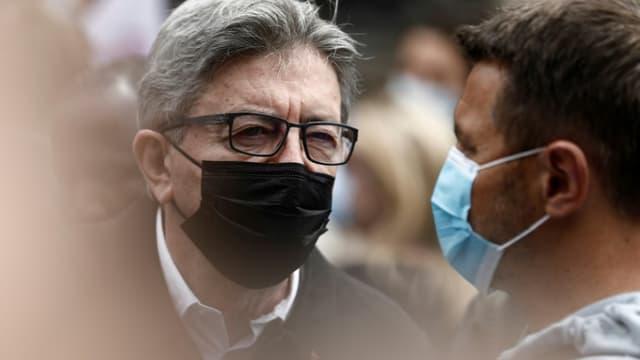 Le patron de LFI et candidat à la présidentielle Jean-Luc Mélenchon, le 12 juin 2021 à Paris